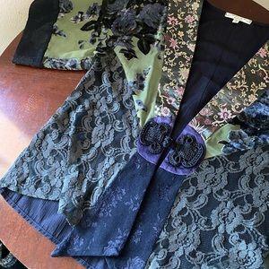Spencer Alexis Women Kimono Button Top Petites M